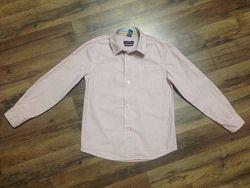 Рубашка для мальчика Zara, р. 116-122, 5-7лет, хлопок