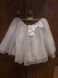 Новая нарядная юбка пачка с фатином H&M на 5-6 лет 28 см длина
