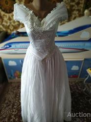 Платье свадебное, выпускное, вечернее, праздничное белое