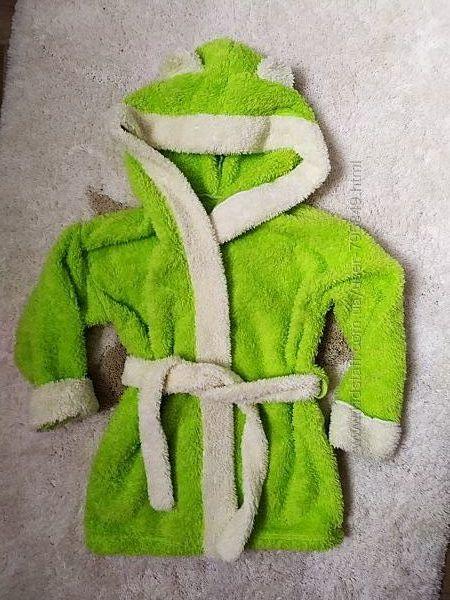 Махровый халат 2-3 года
