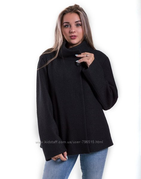 Очень красивое и модное шерстяное пальто черного цвета