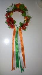 Обруч ободок веночек в украинском стиле