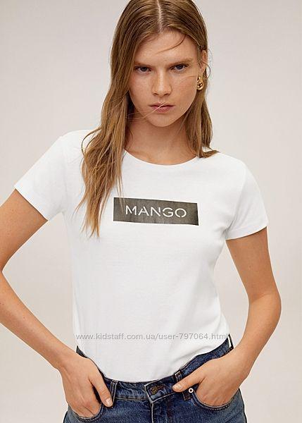 Футболки Mango р. S, р. М белые и чёрные
