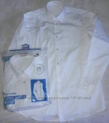 Рубашки George, с длинным и коротким рукавом белые Slim, Regular