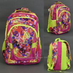 Рюкзак школьный  3 отделения, 2 боковых кармана, спинка ортопедическая