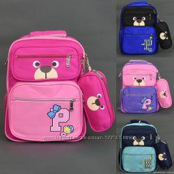 Рюкзак школьный  4 цвета, 2 отделения, 4 кармана, пенал