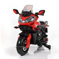 Детский мотоцикл M 3630 EL-3 12V, 50W, EVA, кожа - Красный
