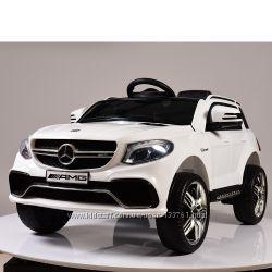 Детский электромобиль Mercedes M 3621 EBLR-1 2. 4G, EVA, кожа - Белый