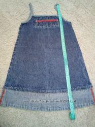 Джинсовый сарафан-платье на рост 104-116см