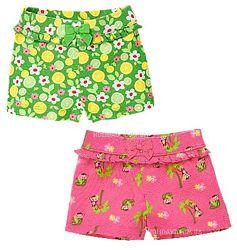 Трикотажные шорты Gymboree, 12-18мес, разные расцветки. В наличии.