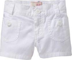 Белые шорты Old Navy 2т, Carters 3т, Childrens Place 6-7. В наличии.