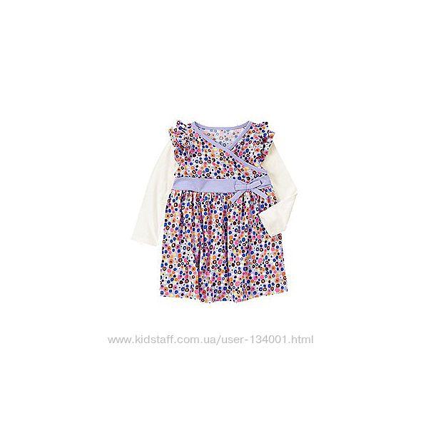 Платье трикотажное с длинным рукавом Crazy8, 2т, 4т, 5т. В наличии.