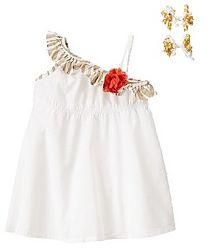 Комплект платье, заколочки, Crazy8, 4т. В наличии.