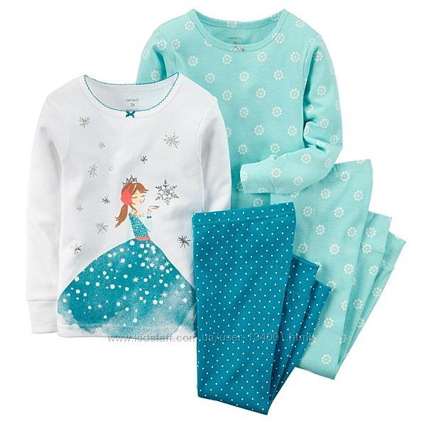 Пижамы трикотажные Carters, 4т, две расцветки. В наличии.