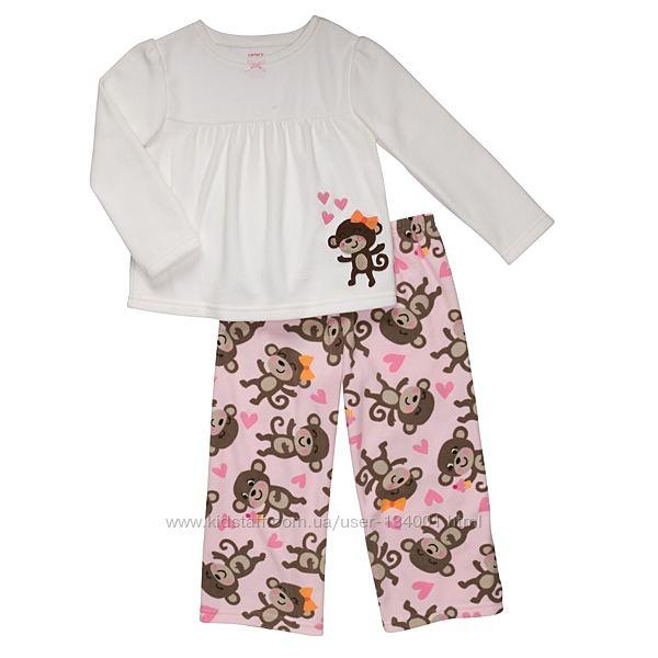 Пижамы флисовые Carters, 4т, 5т, две расцветки. В наличии.