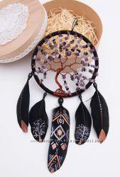 Ловец снов, дерево жизни, сувенир с натуральными камнями, подарок