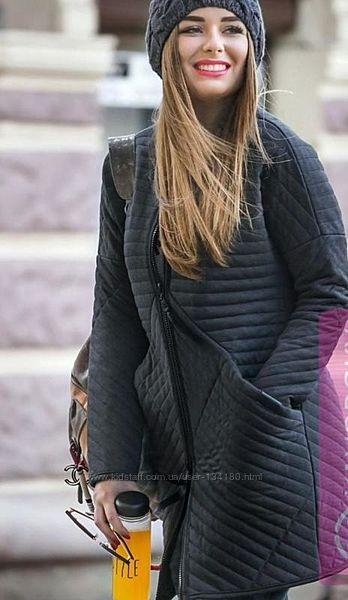 Стёганное пальто от Yavorsky с большими карманами