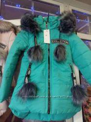 Зимние куртки  для девочек 122-152р в расцветках