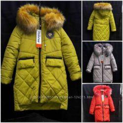Зимнее пальто девочка 32-42р. - без минималок много моделей