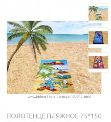 Турецкие пляжные полотенца по оптовым ценам