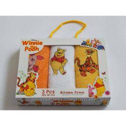 Детские махровые полотенца - салфетки 30х50см в наборах. Турция