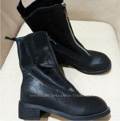 Крутые кожаные ботинки  в стиле ретро