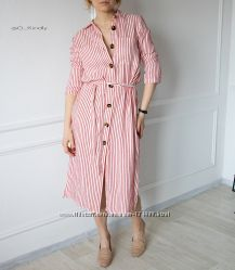Платье - рубашка в полоску от ZARA
