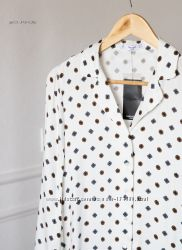 Атласная рубашка с принтом от Mango