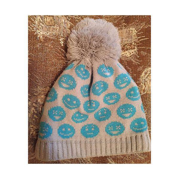 Тёплая фирменная шапка в смайлах Achti Польша