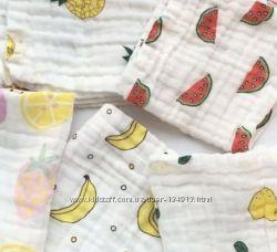 Муслиновые пелёночки фрукты