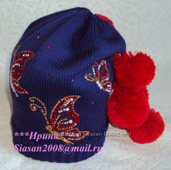 Эксклюзивные вязанные шапки для девочек и мальчиков