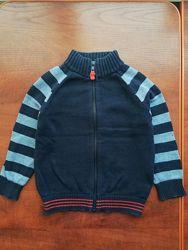 Хлопковый свитер на молнии Mothercare 2-3 года, мягкий, приятный к телу