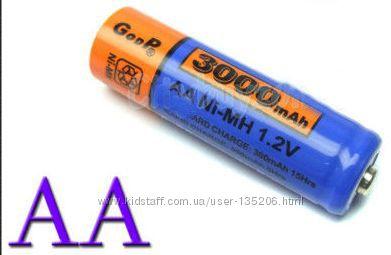 Аккумуляторные батарейки AA GOOD Power Синие в наличии