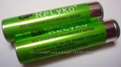 Аккумуляторные батарейки GP Recyko AAA 820 mAh в наличии