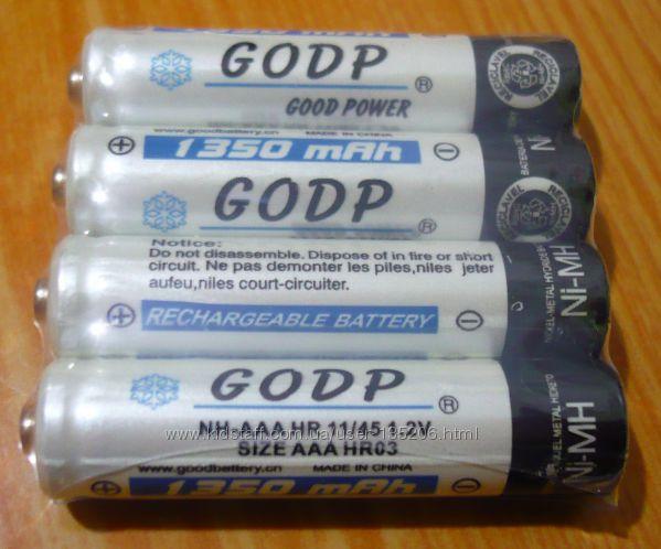 Аккумуляторные батарейки AAA GOOD Power В наличии белые