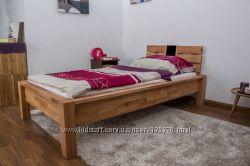 Кровать односпальная из натурального дерева Mobler