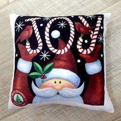 Плюшевая новогодняя подушка
