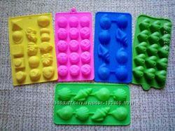 Форма силиконовая для льда конфет мармелада евродесертов выпечки