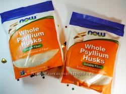 Now Foods Цельная оболочка семян подорожника Псиллиум 454 г