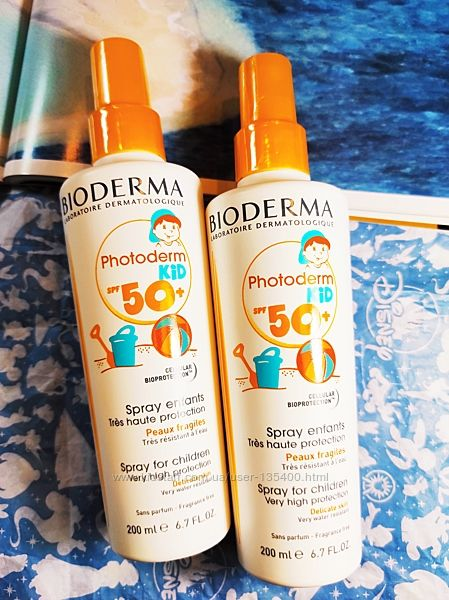 Солнцезащитный спрей для детей SPF 50 Bioderma Photoderm Kid Sun Spray