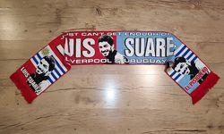 Шарф футбольной звёзды Luis Suarez Liverpool & Uruguay