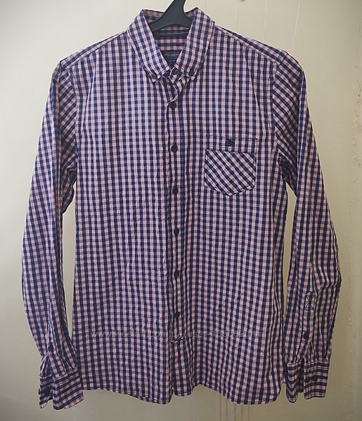 Мужская котоновая рубашка Pull & Bear