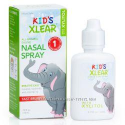 Xlear, Kid&acutes Xlear, соляной раствор, спрей для носа 22 мл