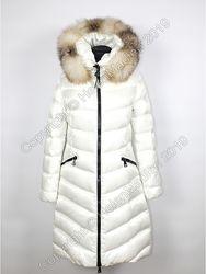 Скидка MONCLER APHIA белое женское пуховое пальто