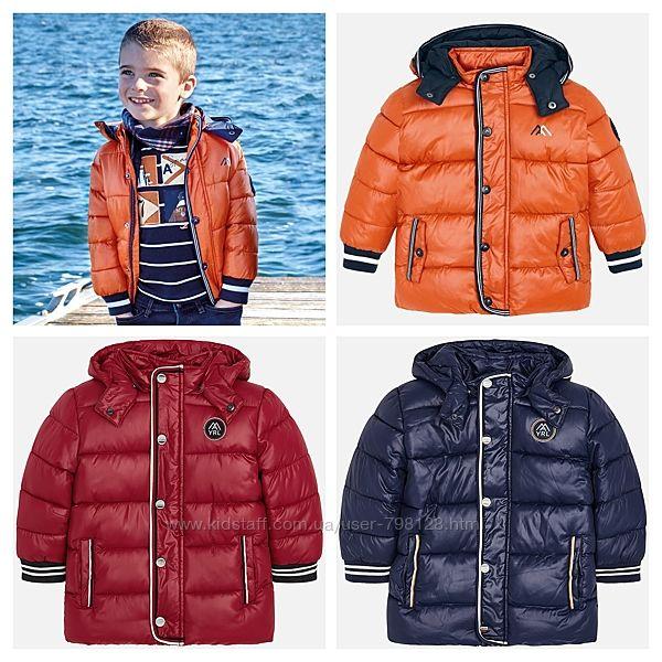 Mayoral утепленная куртка для мальчика 98-128