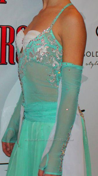 Красивое платье для бальных танцев стандарт