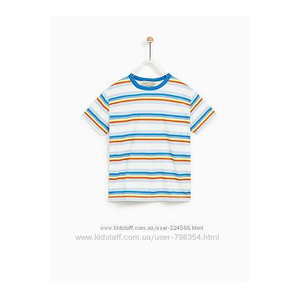 Яркая футболка Zara, р. 128.