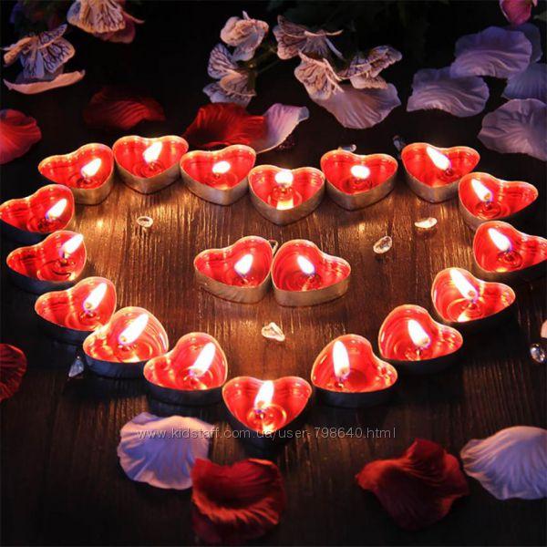 Ароматические Свечи в виде сердца 50 шт.
