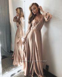 Красивое Вечернее длинное платье в пол рукав