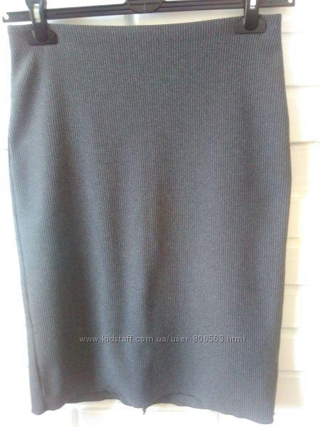 серая юбка прямая Mango